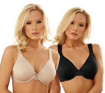 Barely Breezies S/2 Seamless Full Coverage Modern Teardrop Bras - A211857
