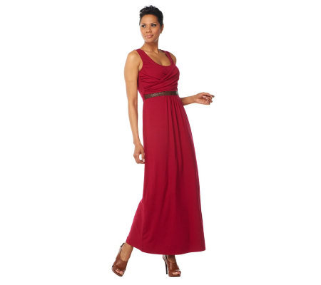Kelly by Clinton Kelly Maxi Dress with Woven Belt Detail