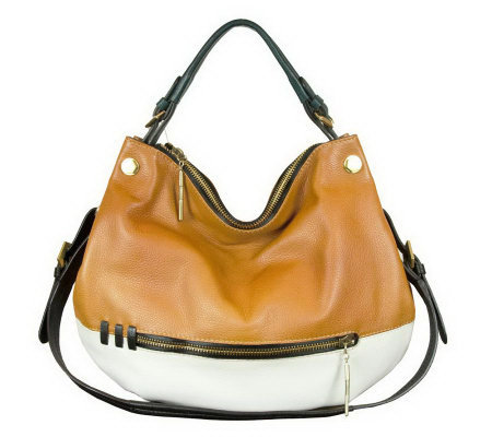 orYANY Olivia Leather Convertible Shoulder Bag with Strap