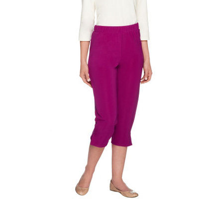 Susan Graver Lustra Knit Pull-on Capri Pants