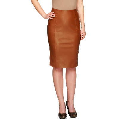 G.I.L.I. Faux Leather Pencil Skirt