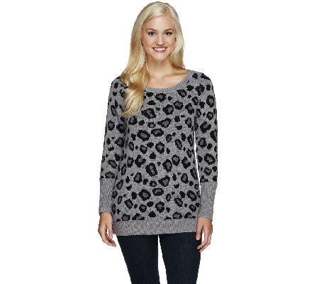 Edge by Jen Rade Animal Jacquard Sweater