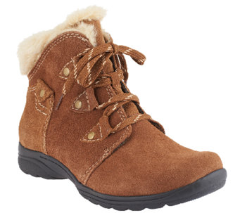 Earth Origins Water Resistant Suede Ankle Boots - Cooper - A258457
