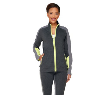 Denim & Co. Active Duo-Stretch Color-Block Jacket - A262557