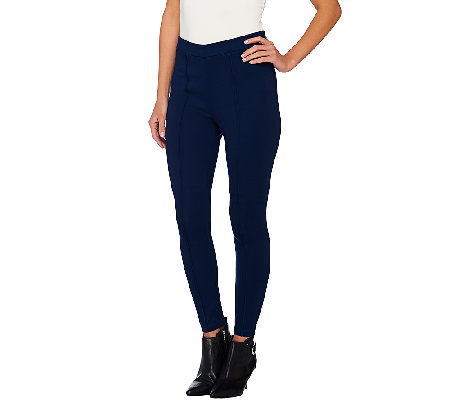 Joan Rivers Regular Length Pull-on Knit Legging with Seam Detail