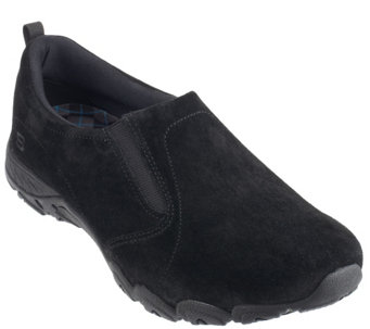 """As Is"" Skechers_Suede Double Gore Slip-On Shoes- Atmosphere - A264557"