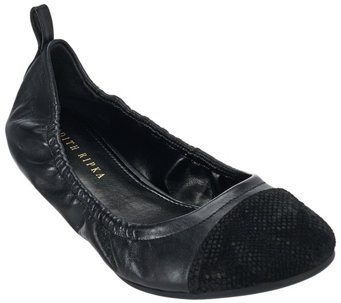 Judith Ripka Leather Slip-on Flats - Alberta - A270357