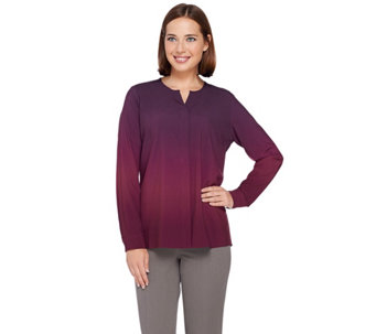 Kelly by Clinton Kelly Hidden Placket Blouse - A271957