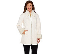 Dennis Basso Faux Shearling Multi-Seamed Coat - A272557