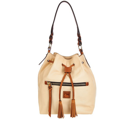 Dooney & Bourke Logan Leather Drawstring Bag