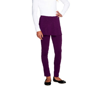 """As Is"" LOGO Littles by Lori Goldstein Knit Leggings with Skirt - A275357"