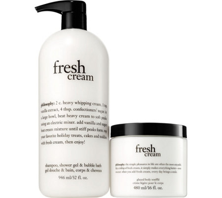 philosophy super-size shower gel and souffle duo