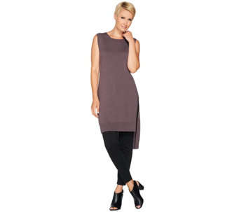 LOGO by Lori Goldstein Sleeveless Sweater Knit Tunic - A279457