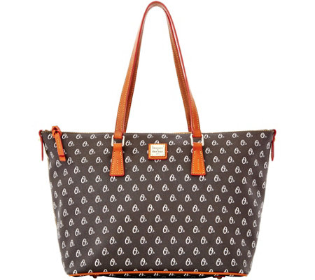 Dooney & Bourke MLB Orioles Zip Top Shopper