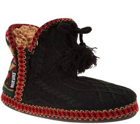 MUK LUKS Amira Slippers with Jojoba Infused Furpa Lining