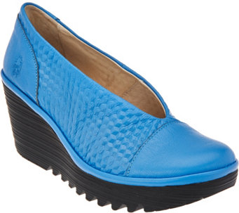 FLY London Leather Slip-on Shoes - Yena - A283457