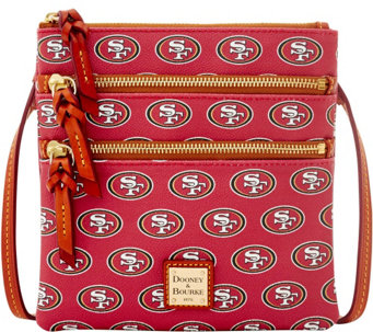 Dooney & Bourke NFL 49ers Triple Zip Crossbody - A285657