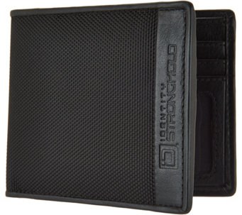 ID Stronghold RFID Men's Nylon and Leather Wallet - A286157