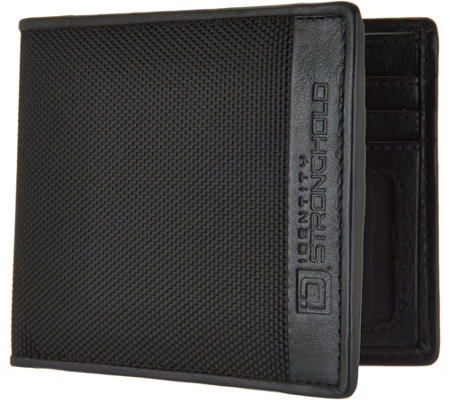 ID Stronghold RFID Men's Nylon and Leather Wallet