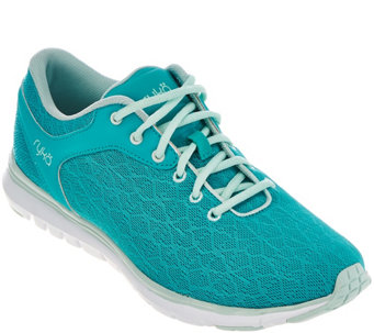 """As Is"" Ryka Mesh Training Lace-up Sneakers w/CSS - Cygnus - A289657"