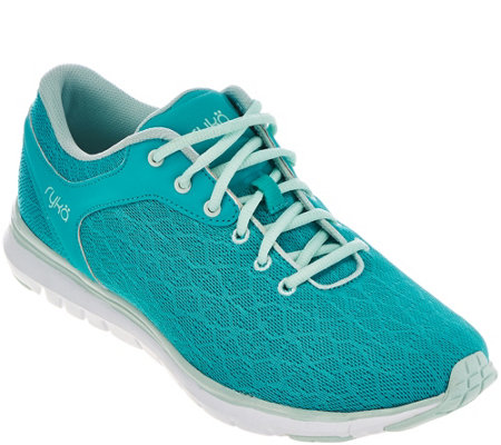 """As Is"" Ryka Mesh Training Lace-up Sneakers w/CSS - Cygnus"