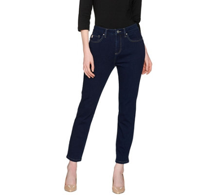 """As Is"" Belle by Kim Gravel Flexibelle Ankle Length Girlfriend Jean"