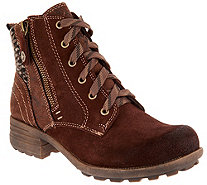 Earth Origins Suede Lace-up Ankle Boots - Porter - A298257