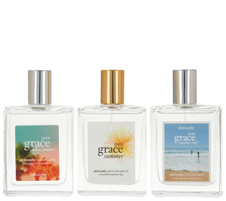 philosophy pure grace summer eau de toilette fragrance trio