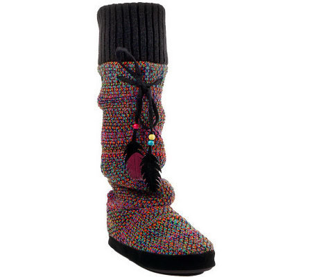 Muk Luks Angie Reverse Multi Knee High SlipperBoots
