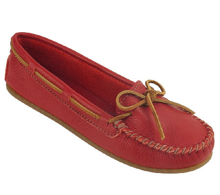 Minnetonka Leather Boat Moccasins