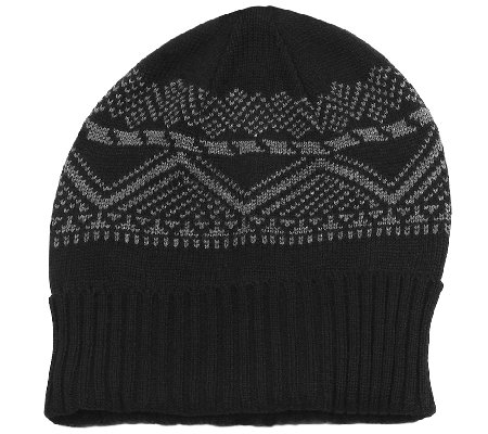 MUK LUKS Men's Cuff Cap with Fleece Lining