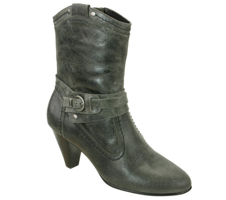 David Tate Mid-Calf Leather Boots - Columbia
