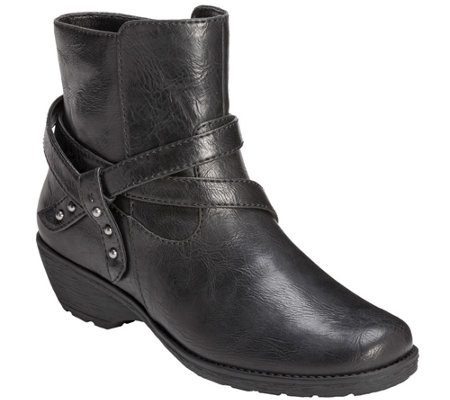 Aerosoles Motorcycle Style Ankle Boots - Instintaneous