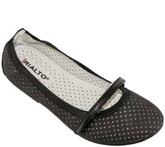 Rialto Perforated Ballet Flats - Alicia - A336957
