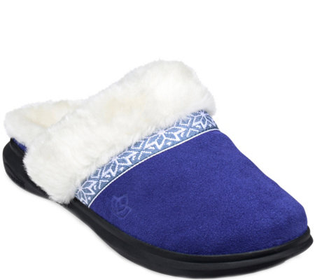 Spenco Slide Orthotic Suede Slippers - Nordic