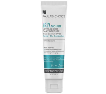 Paula's Choice Skin Balancing Ultra-Sheer Daily Defense SPF 30 - A339157