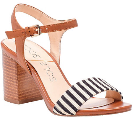Sole Society Block Heel Sandals - Linny