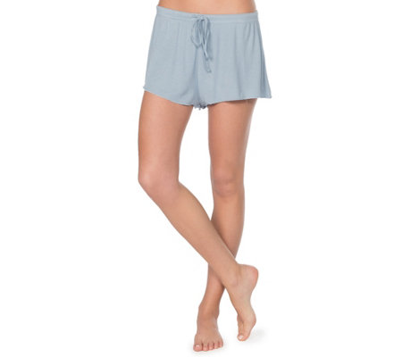 Barefoot Dreams Luxe Ribbed Jersey Shorts