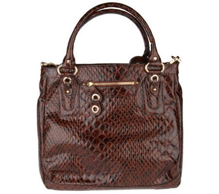 Jessica Simpson Aer Anaconda Embossed North/South Tote