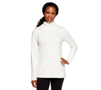 Liz Claiborne New York Essentials Mock Neck Long Sleeve Tee - A237858