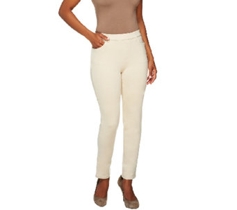 "Denim & Co. ""How Comfy"" Slim Leg Pants with Pockets - A251358"