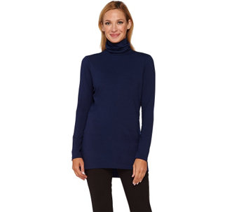Isaac Mizrahi Live! Turtleneck Knit Tunic - A258658