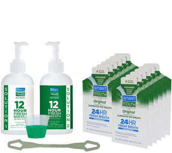 SmartMouth 12-Hour Breath Protection Rinse and On-The-Go Packs - A259758