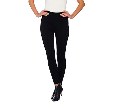 Joan Rivers Petite Length Pull-on Knit Legging with Seam Detail