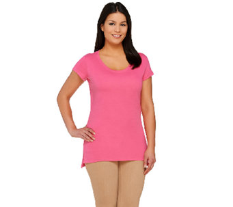 Isaac Mizrahi Live! Essentials Shirt Tail Hem Tunic - A263858