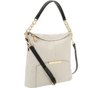 Marc Fisher Cora Leather Convertible Zip Top Hobo - A264458