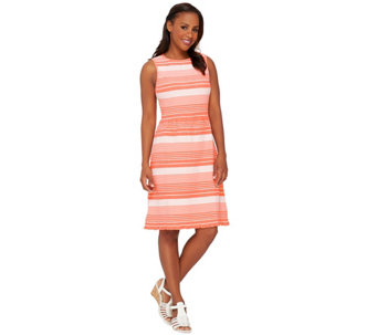 Isaac Mizrahi Live! Striped Knit Dress - A266058