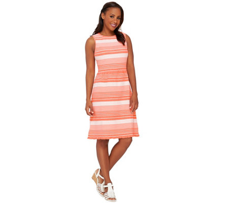 Isaac Mizrahi Live! Striped Knit Dress