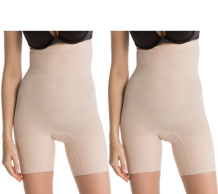 Spanx Higher Power High Waisted Shaping Short Set of Two