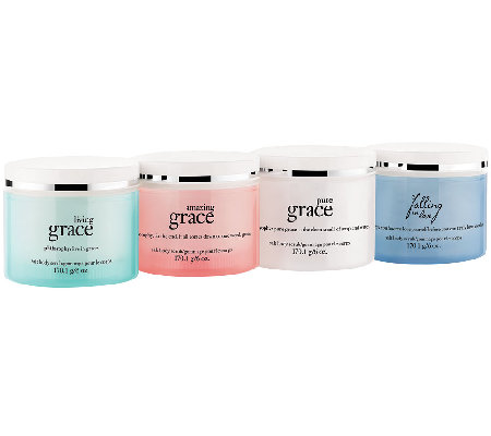 philosophy state of grace & love 4pc salt scrub collection